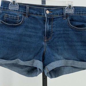 Old Navy cuffed denim jean shorts womens sz 8